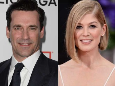 Jon Hamm y Rosamund Pike en el thriller político 'High Wire Act'