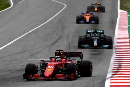 Leclerc Bottas Espana F1 2021