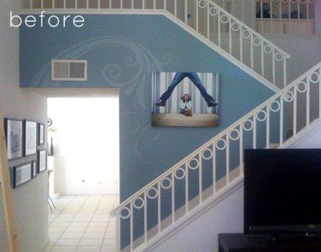 Antes y después: una escalera panelada en madera