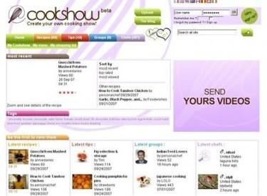 Vídeos de cocina en la red social Cookshow