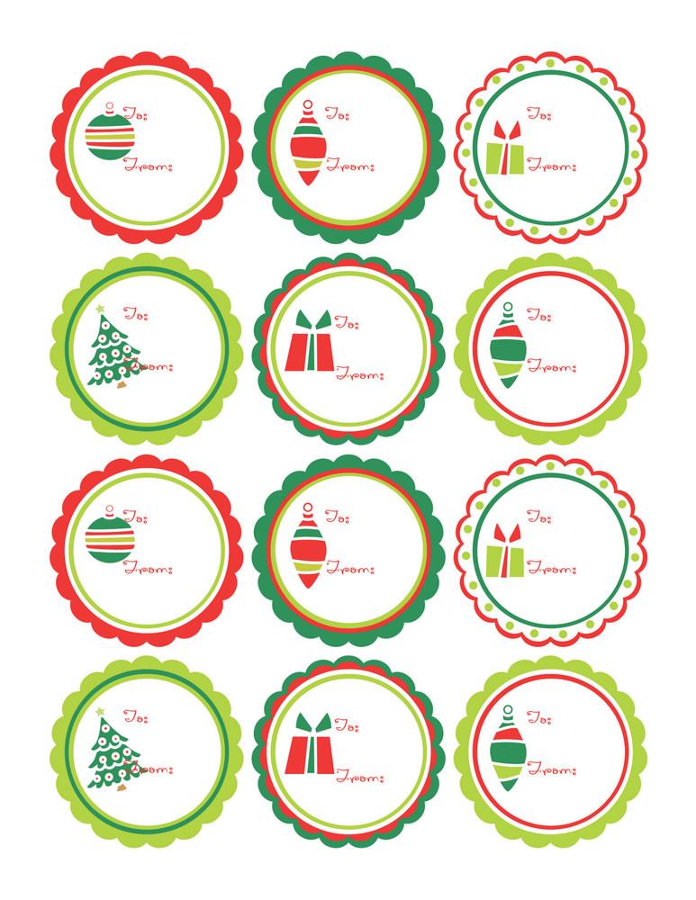 M s tarjetas de navidad para etiquetar los regalos - Figuras navidenas para imprimir ...