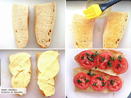 Preparación Pan Caprese