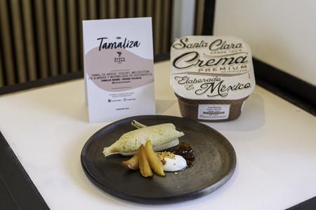 Tamales Madre Tamal De Arroz Yogurt Melocoton En Almibar Y Mermelada De Xoconostle