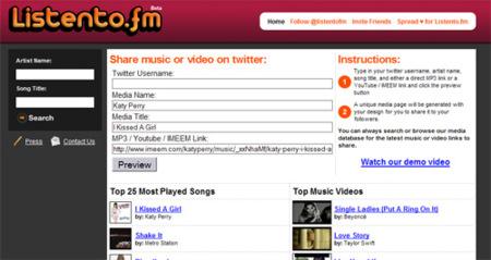 Listento.fm y swg.fm, servicios para compartir música en Twitter