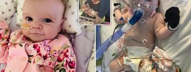 Erin, una bebé de seis meses con un grave defecto cardíaco y enfermedades respiratorias, logró vencer al coronavirus