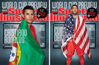 Algunos jugadores del mundial ya calientan en las portadas