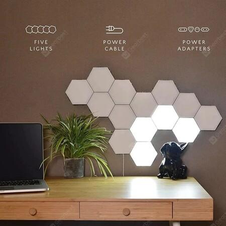 Luces LED hexagonales de oferta en México