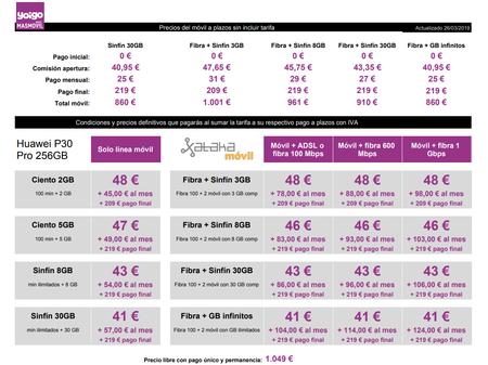 Precios Huawei P30 Pro 256gb Con Pago A Plazos Y Tarifas Yoigo