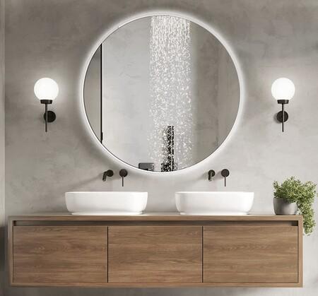 El lujo mas accesible; espejos con luz y de aumento para el cuarto de baño
