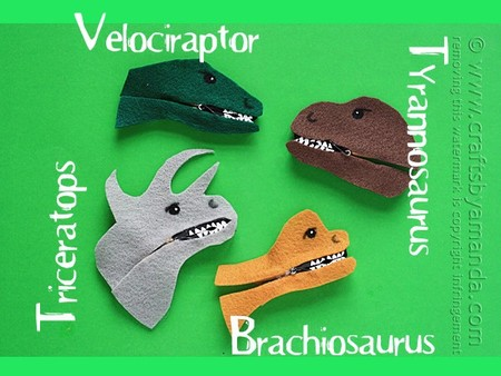 Manualidades Dinosaurios Pinzas