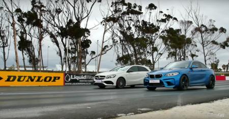 Video: BMW M2 vs Mercedes A45 AMG, cuando todo se resuelve con un arrancón