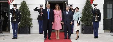 Melania Trump se apunta a la moda neón con un abrigo de más de 5.000 dólares (de Fendi)