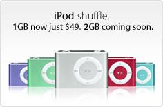Llegan las rebajas a Apple: iPod shuffle desde 45 euros y nuevo modelo de 2GB