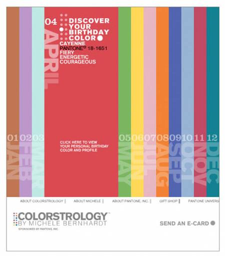 Colorstrology: descubre el color de la fecha de nacimiento de tu bebé