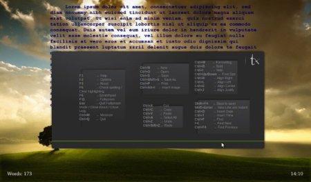 textroom editor texto minimalista linux