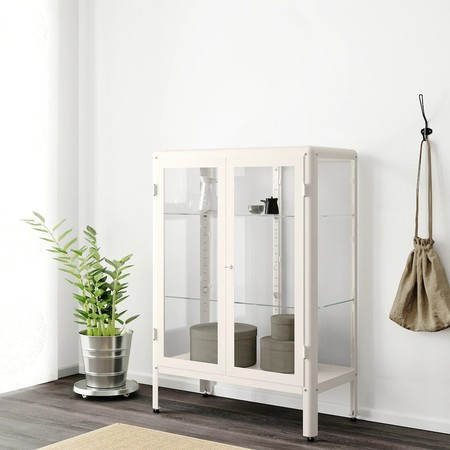 Fabrikoer Glass Door Cabinet White 0851588 Pe658843 S5