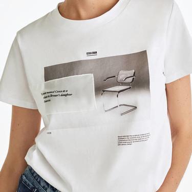 Las camisetas perfectas para los amantes del diseño están en Uterqüe e incluyen icónicos muebles de arquitecto como mensaje