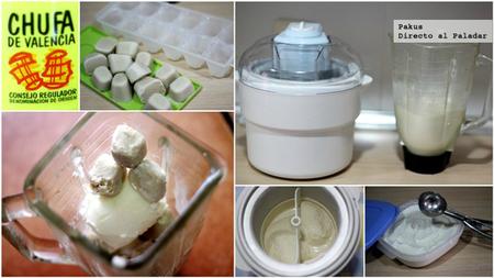 helado horchata paso a paso