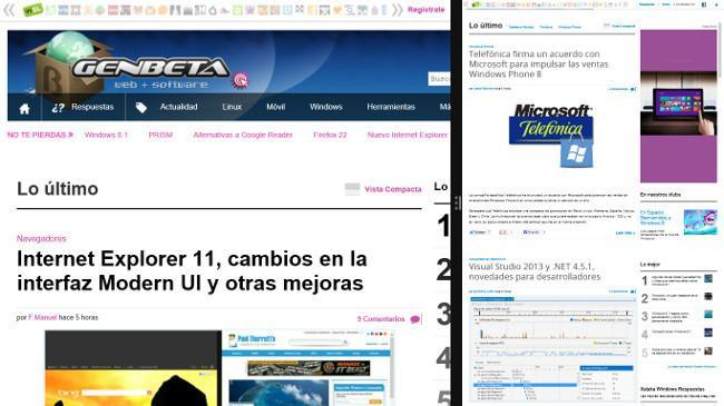 Multitarea en Windows 8.1