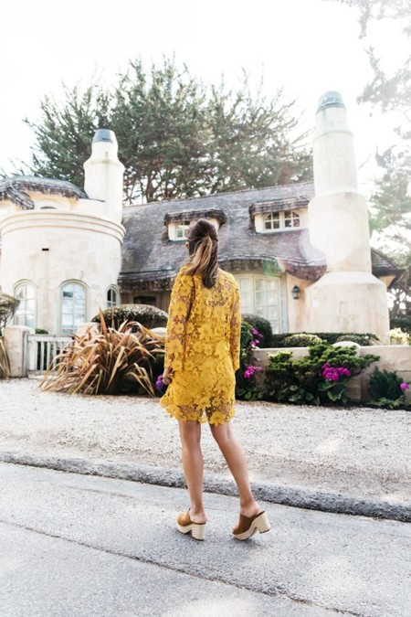 Carmel By The Sea Collage On The Road Lace Dress Yellow Beach Outfit Collage Vintage 17 790x1185