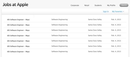 Nuevas ofertas de trabajo de Apple para el equipo de mapas de iOS
