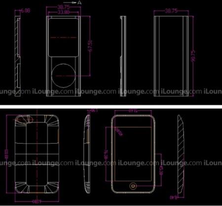 ¿Son éstas las dimensiones del iPod Nano 4G y del iPod Touch 2G?