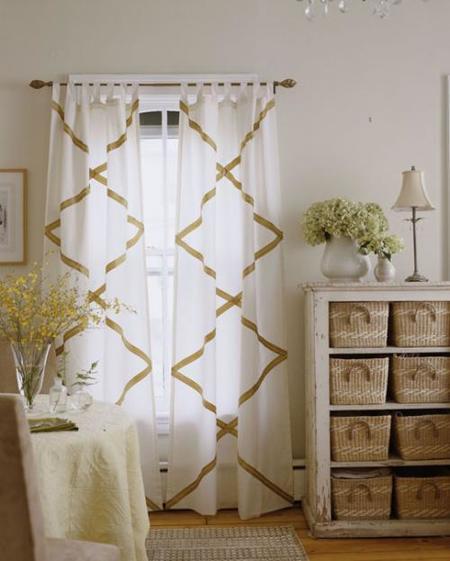 Hazlo tú mismo: anima unas cortinas lisas