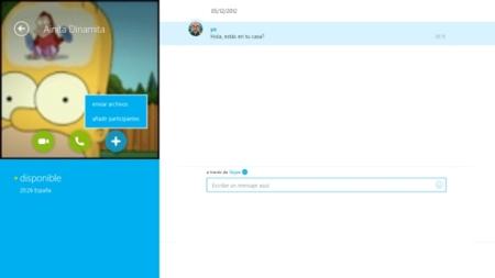Skype para Windows 8 se actualiza y ahora permite compartir archivos