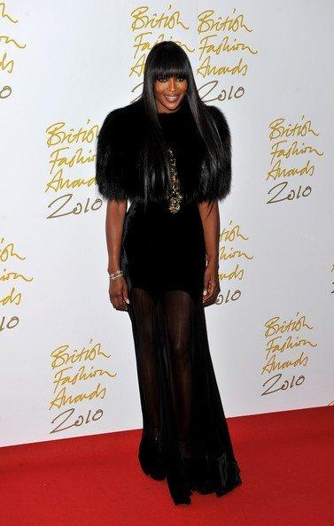 Naomi Campbell en los los British Fashion Awards 2010