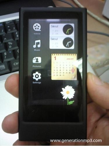 Samsung YP-P3, con widgets personalizables