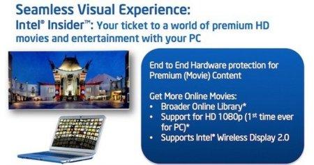 Intel planea lanzar su propio videoclub online en HD utilizando Insider