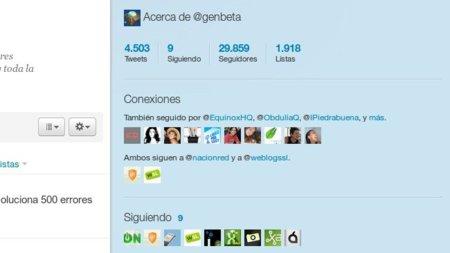 Twitter nos muestra las conexiones entre nosotros y otros usuarios