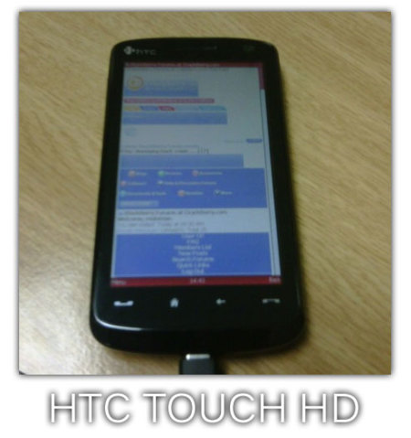 HTC Touch HD, con gran pantalla