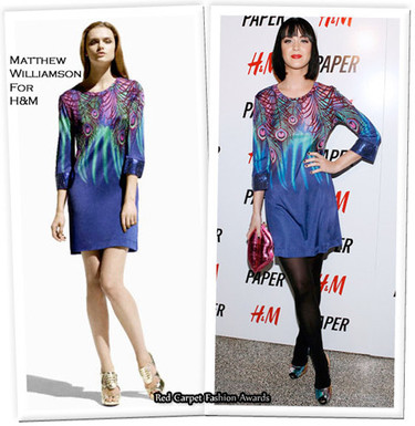 Katy Perry de Matthew Williamson para H&M