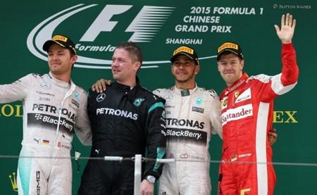 Mercedes y Ferrari se suben al podio del Gran Premio de China de Fórmula 1