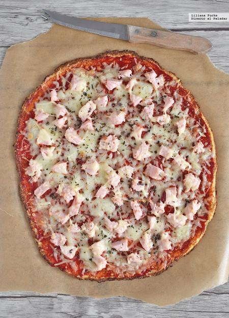 Cómo hacer pizza con base de coliflor