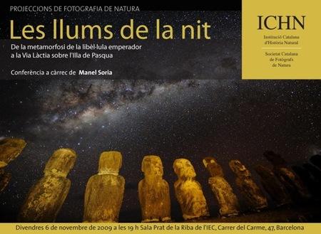 Les llums de la nit, charla de astrofotografía en el IEC de Barcelona