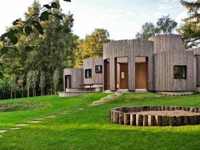 Una casa danesa conformada por espacios circulares