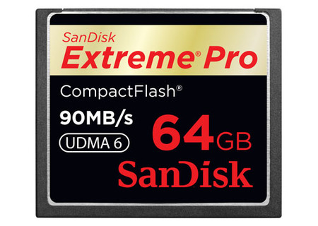 SanDisk Extreme Pro CF,  64GB y 90 MB/s