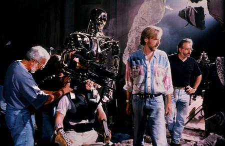 James Cameron en el rodaje de Terminator 2