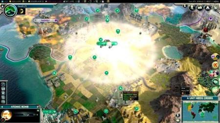 Explosión nuclear en Civilization