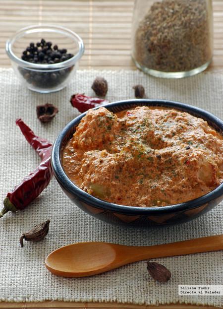 Dum Aloo, curry rojo de patatas baby con yogur