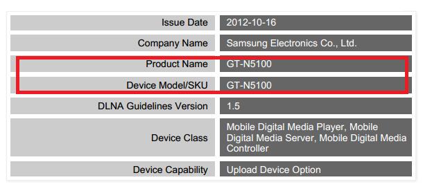 Samsung GT-N5100