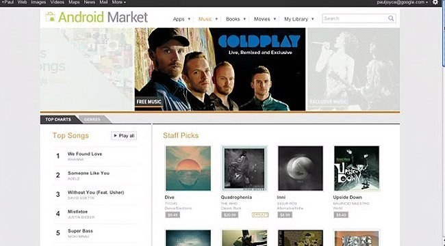 Android Market Google Music