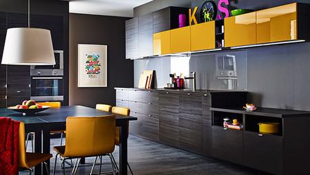 nuevas cocinas metod ikea marrón amarillo en decoesfera