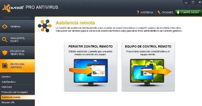 Control remoto Avast