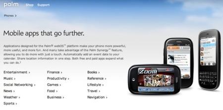 El catálogo de aplicaciones de Palm también en la web