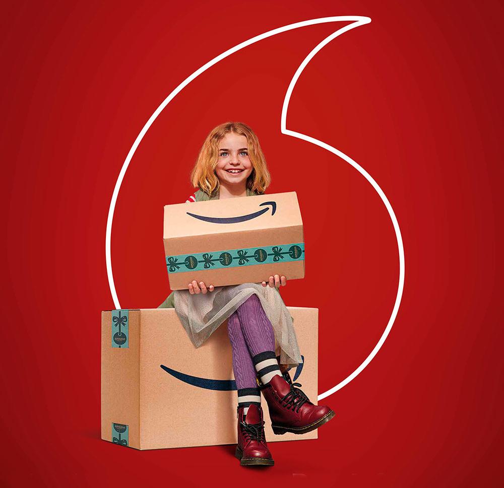 Vodafone celebra la Navidad regalando un año de Amazon Prime con Prime Video