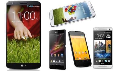 LG G2 frente a sus rivales directos en el mercado tope de gama Android