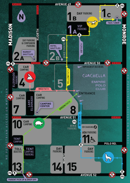 Coachella1 Parking Map